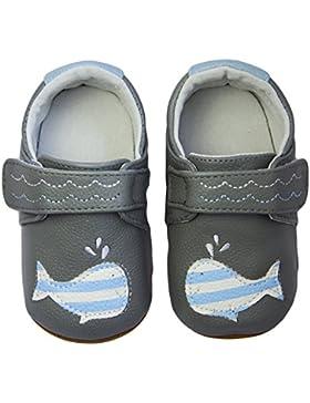 Rose & Chocolat RCM Happy Whale Grey - Zapatos Para Bebes Para Bebé-Niños