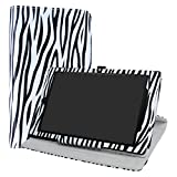 LiuShan All-New Amazon Fire HD 10 Rotary Funda, Giratoria 360 Grados de Rotación Carcasa con Stand Soporte Caso Fire HD 10 2017 Android Tablet,Zebra Negro
