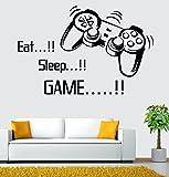 Best Engomadas del arte y Adhesivos de Hadas - LuckES Eat Sleep Game 3D Espejo Mujeres Hombres Review