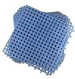 Set von 9Verschränkung Boden tiles- 11.75Zoll jeder Stein-Nass Bereiche wie Pool Dusche locker-room Bad Deck Terrasse Garage Boot. zuschneidbar: Mako-Line-Foghorn Konstruktion blau