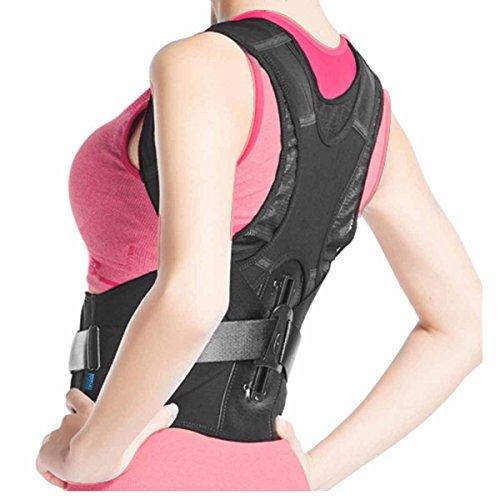 Corrector de Postura Ajustable Solución Instantánea Para La Postura Encorvada Frente Al Ordenador Cinturón Para El Alivio Del Dolor De Espalda -El Mejor Soporte Hombro Por EZbuy (M 32-35,5 ')