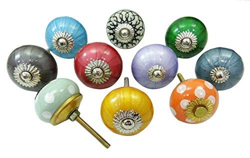 vintage-hand-bemalte-keramik-knopfe-hardware-kabinett-knob