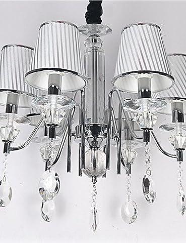 SWENT Simple moderne/retro/LED suspendus Max 60W/moderne Cristal lustres contemporains galvanoplastie Salle à manger/cuisine équipée,220-240V