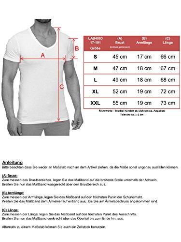 L.A.B 1928 Herren Polo Shirt T-Shirt Kurzarm Poloshirt Kragen Polohemd Basic Weiß