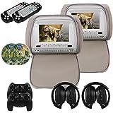 Mvpower 9'' Reposacabezas para coche Reproductor de DVD Multimedia Monitor pantalla LCD (gris)