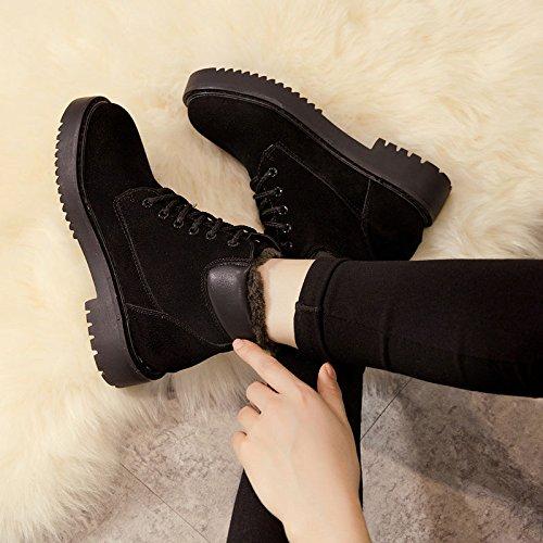 FLYRCX In autunno e in inverno la personalità di moda la sig.ra Martin anti-skid boots e cashmere scarpe caldo B