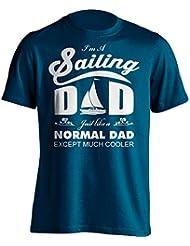 """Funny Sailor Dad camiseta """"Soy una vela Dad como un normal Dad excepto mucho Cooler"""" Sailing–Camiseta de Idea de regalo para Dad, Brother, Uncle o para un amigo en cualquier ocasión. Regalo de cumpleaños, Regalo del día de padre y regalo de Navidad..., azul marino"""