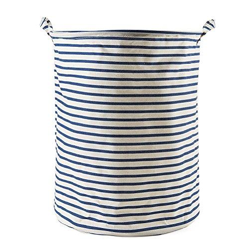 LAAT Cubo Plegable de Lino y algodón, Cesta para la Ropa Sucia, Bolsa de Almacenamiento para Colada, Tela, Gris, 40 * 40 * 50 (2)