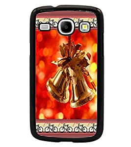 PrintDhaba Christmas Bells D-2515 Back Case Cover for SAMSUNG GALAXY CORE i8262 (Multi-Coloured)