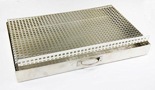 massiver Aschekasten + Kohlerost für einen 54 x 34 cm Grillkamin Grill Rost Kamingrill