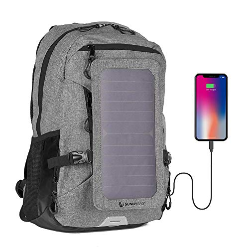 SunnyBAG Explorer+ Backpack with Solar-Panel | solarbag solarcharger | World's Strongest solarpanel for Smartphone Charging on The go | Gra...