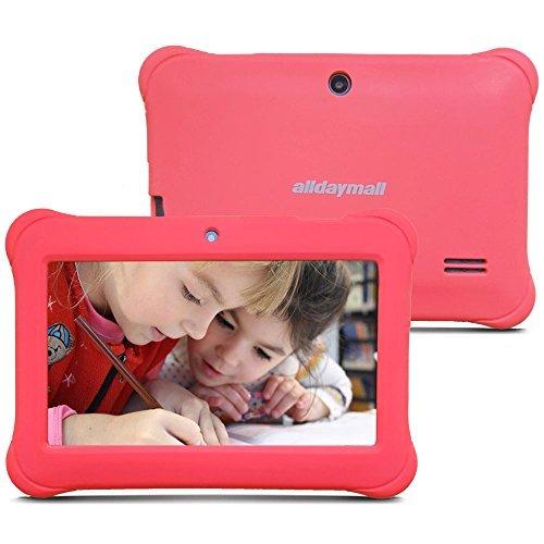 Alldaymall Nuevo Tablet para niños de 7 pulgadas 8GB Quad Core, Android 5.1, 1GB RAM, Wi-Fi, Bluetooth (3rd Generación) (rosa)