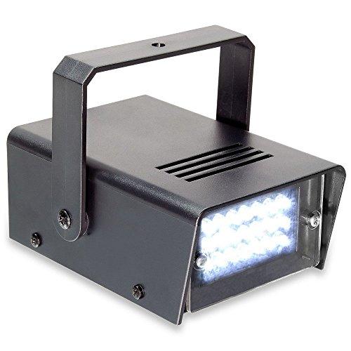 Beamz Disco 153.275schwarz und Stroboskop-Licht–Zubehör (schwarz, LED, 24Lampe (S), weiß, AC, 10W)