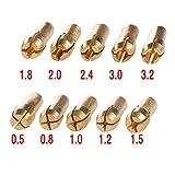 10 piezas de portabrocas de latón de 0,5 – 3,2 mm para herramientas giratorias, taladro eléctrico