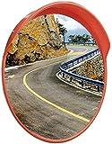 Xhz Xhz PC Sturz- Straßenspiegel Convex Blind Spot Straßen Spiegel Sonnenschutz wasserdichte Lane Außen Werkstatt orange Blind Spot Spiegel (Size : 80cm)