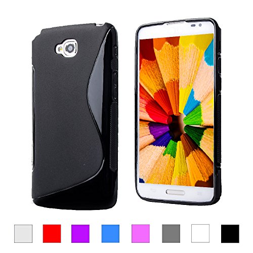 LG G Pro Lite Back Cover , Hybrid S-Line Matte Finish Back Cover Case  available at amazon for Rs.179