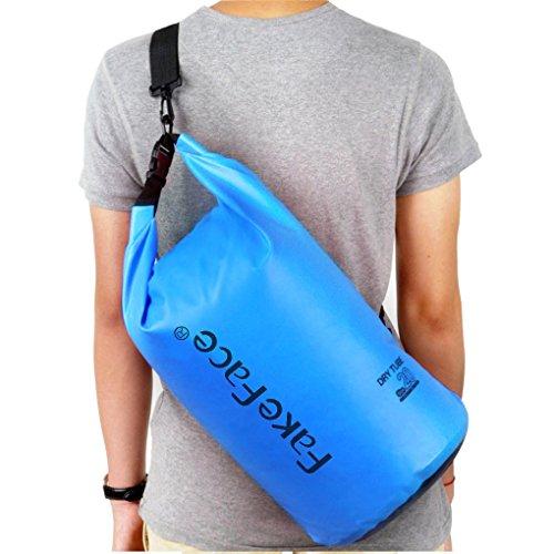 FakeFace Neu Wassderdicht Packsack Taschen Stausack Trockener Beutel 10 liter Blau 20L