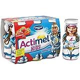 Danone Actimel for Kids Strawberry Yogurt Drink, 6 x 100g