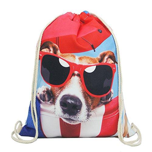 Imagen de artone gafas de sol perro poliéster lazo bolso viajar daypack deportes portable  rojo