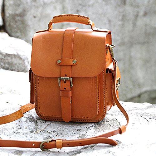 Création originale en cuir véritable sac Messenger sac à main des femmes fashion épaule sacs bandoulière Light brown