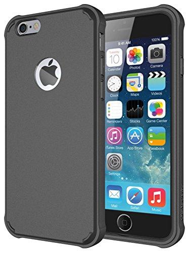 Diztronic IP6-VOY-BLK Ultra TPU Schutzhülle für Apple iPhone 6/6S Voll Matt schwarz Matte Charcoal Gray Voyeur
