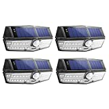 Mpow 30 LED Solar Lights, A New Generation of Motion Sensor Solar Lights, Powerful IPX6+ Waterproof, Industry-leading SunPower Solar Panel, Bright Wall Light, Upgraded 120� Wide-angle Sensor Head, 30 Enhanced LEDs for High Brightness, Great Outdoor Light for Garden, Driveway, Yard, Garage, Pathway, Pack of 4