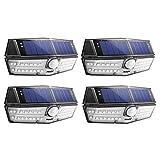 Mpow [4 Pezzi Tipo Nouvo 30 LED Luce Solare Impermeabile IP67, Lampada Solare con Sensore di...
