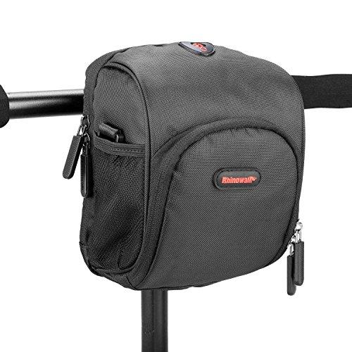 Fahrrad lenkertasche, Rhinowalk 3L Wasserfeste Tasche für den Fahrradlenker, Satteltasche für Fahrräder, Mountainbikes oder Roller, mit Regenschutz