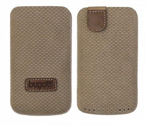 Original Bugatti Perfect Scale ( Größe XL ) Reed Braun Echtleder Vertical Tasche Hülle mit Easyreleasetechnik Bulk-Pack geeignet für Apple iPhone SE (Braun Reed)