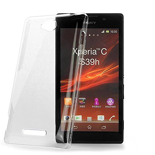 DNG Crystal Clear Transparent Hard Back Case Cover for Sony Xperia C C2305