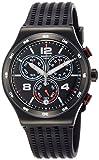 Swatch Unisex Erwachsene Chronograph Quarz Uhr mit Silikon Armband YVB404