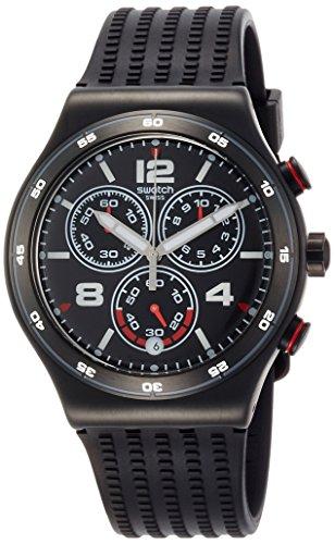 Swatch Orologio Cronografo Quarzo Unisex con Cinturino in Silicone YVB404