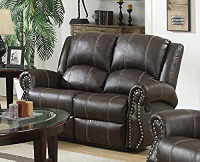 Lovesofas Salisbury Recliner 3 2 1 Bonded Leather Sofa Variations - Brown from LOVESOFAS