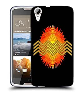 Snoogg Solar Sun Designer Protective Back Case Cover For HTC 828