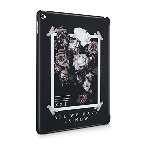 All We Have Have Is Now Pale Weiß & Rosa Wild Roses Tumblr Dünne Rückschale aus Hartplastik für iPad Air 2 Tablet Hülle Schutzhülle Slim Fit Case cover (Paisley-snap Rosa)