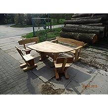 Rustikale Gartenmöbel, Sitzgarnitur,Sitzgruppe Aus Eiche, Massiv Nach Wunsch