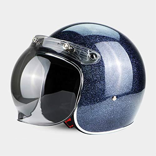 Berrd Frp Retro Open Face Casco moto Half Jet Retro Casco con visiera a bolle XL