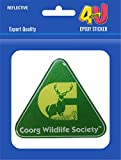 #4: 4U Stickers Epoxy Sticker - Coorg Wildlife