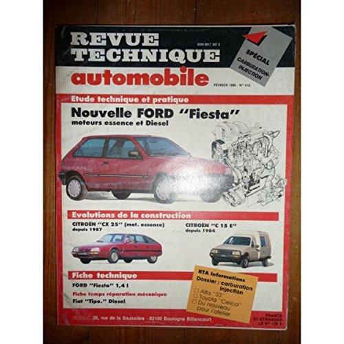 RTA0512 - REVUE TECHNIQUE AUTOMOBILE FORD FIESTA Essence et Diesel