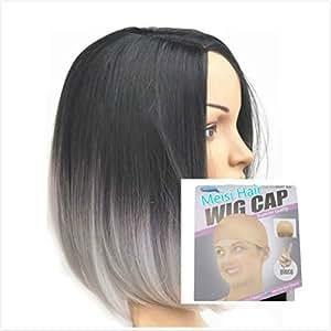 meisi hair haarverl ngerung hot produkte produkte hitzeresistente synthetik bobo schwarz grau. Black Bedroom Furniture Sets. Home Design Ideas
