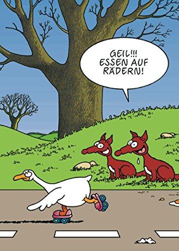Postkarte A6 • 9009 ''Essen auf Rädern'' von Inkognito • Künstler: Tetsche • Satire • Cartoons (Kunst Roller Skate)