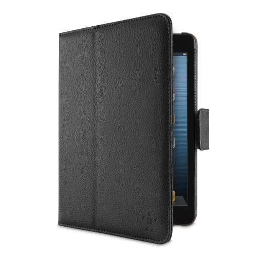 Belkin Leather Verve Tab Folio mit Standfunktion und Magnetverschluss (Auto on/off) für Apple iPad mini schwarz