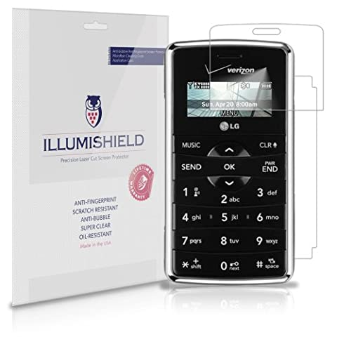 iLLumiShield - LG EnV2 Screen Protector Japanese Ultra Clear HD Film with Anti-Bubble and Anti-Fingerprint - High Quality (Invisible) LCD Shield - Lifetime Replacement Warranty - [3-Pack] OEM / Retail Packaging (Model(s): VX9100)