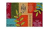 Fussmatte - Fußmatte - Türfußmatte - Fußabstreifer - Fußabtreter - Türmatte - Motivfußmatte - Fußmatte - Kokos - Kokosfussmatte - bunt - Blumen