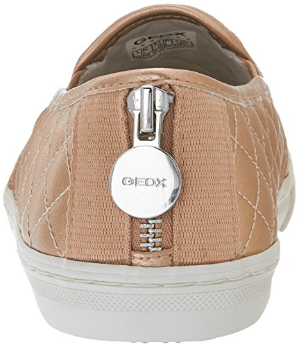 Geox D New Club C, Baskets mode femme Gold (SKINC8182)
