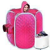 Unbekannt HZT Dampfende Decke, Dampfende Box Sauna Entgiftung Fumigation Maschine Schwitzen Sauna Box hanzheng (Farbe : Rose)