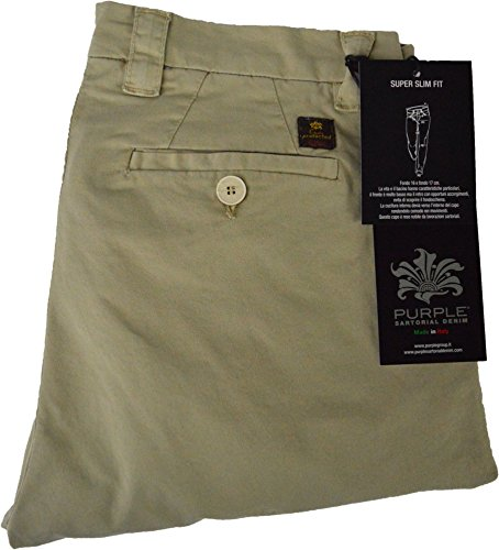 Purple Products Herren Chino Jeanshose Beige