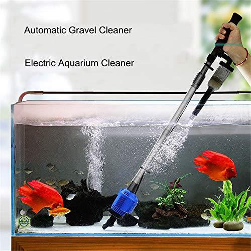 JFJL Aquarium Kiesreiniger - Elektrischer Automatischer Vakuumwasser-Wechsler-Flexibler Aquarium-Sand-Algen-Reiniger-Filter-Wechsel, Siphon-Reinigungs-Fisch-Aquarium-Siphon