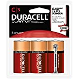 Duracell QU1400B3RFP Quantum Alkaline C Batteries (Pack Of 3)