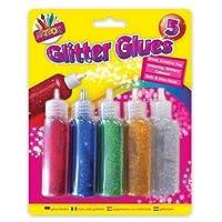 Miqat Artbox Childrens Glitter Glue Pen Kids Art Craft Glue mix colours 5 Pack